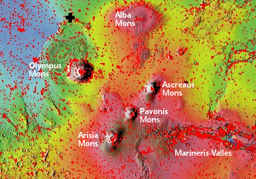 Mars Overview map