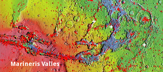 Overview map of Marineris Valles