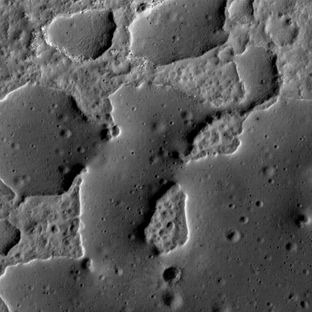 Weird terrain at Ina on the Moon