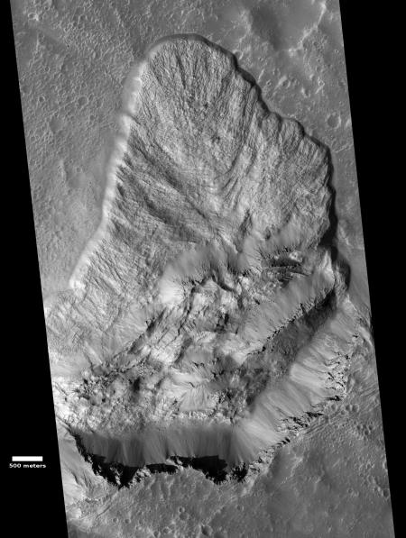 Landslide on Mars