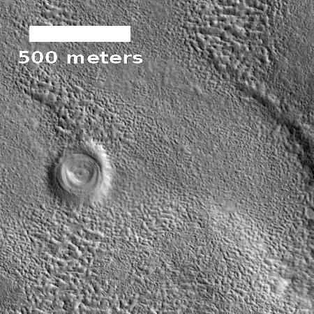 Weird crater on Mars