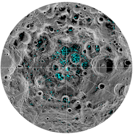 ice signatures in lunar south pole craters