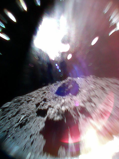 Ryugu's surface