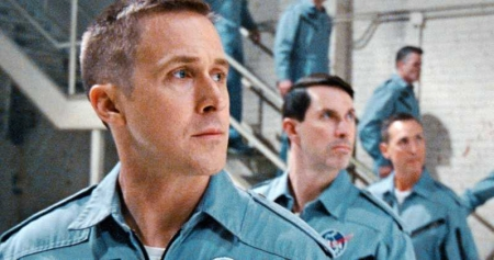 First Man movie flightsuits, without American flag