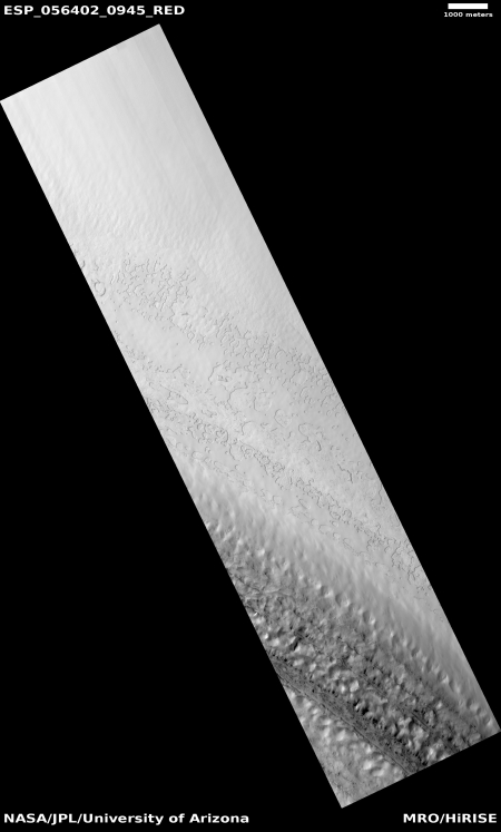 transition at south pole edge
