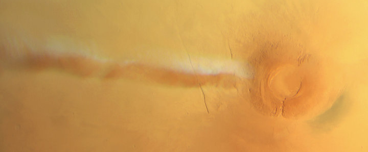 Water-ice cloud over Arsia Mons