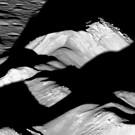 Central peaks of Copernicus Crater