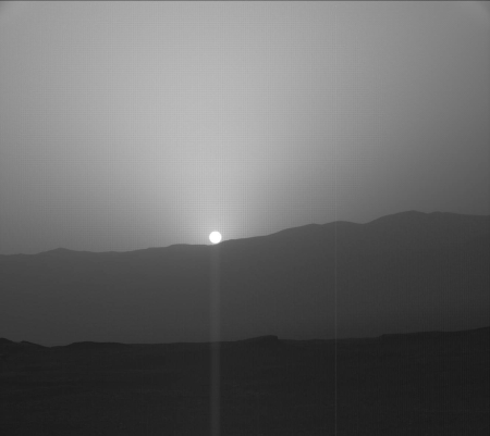The sun on Mars's horizon