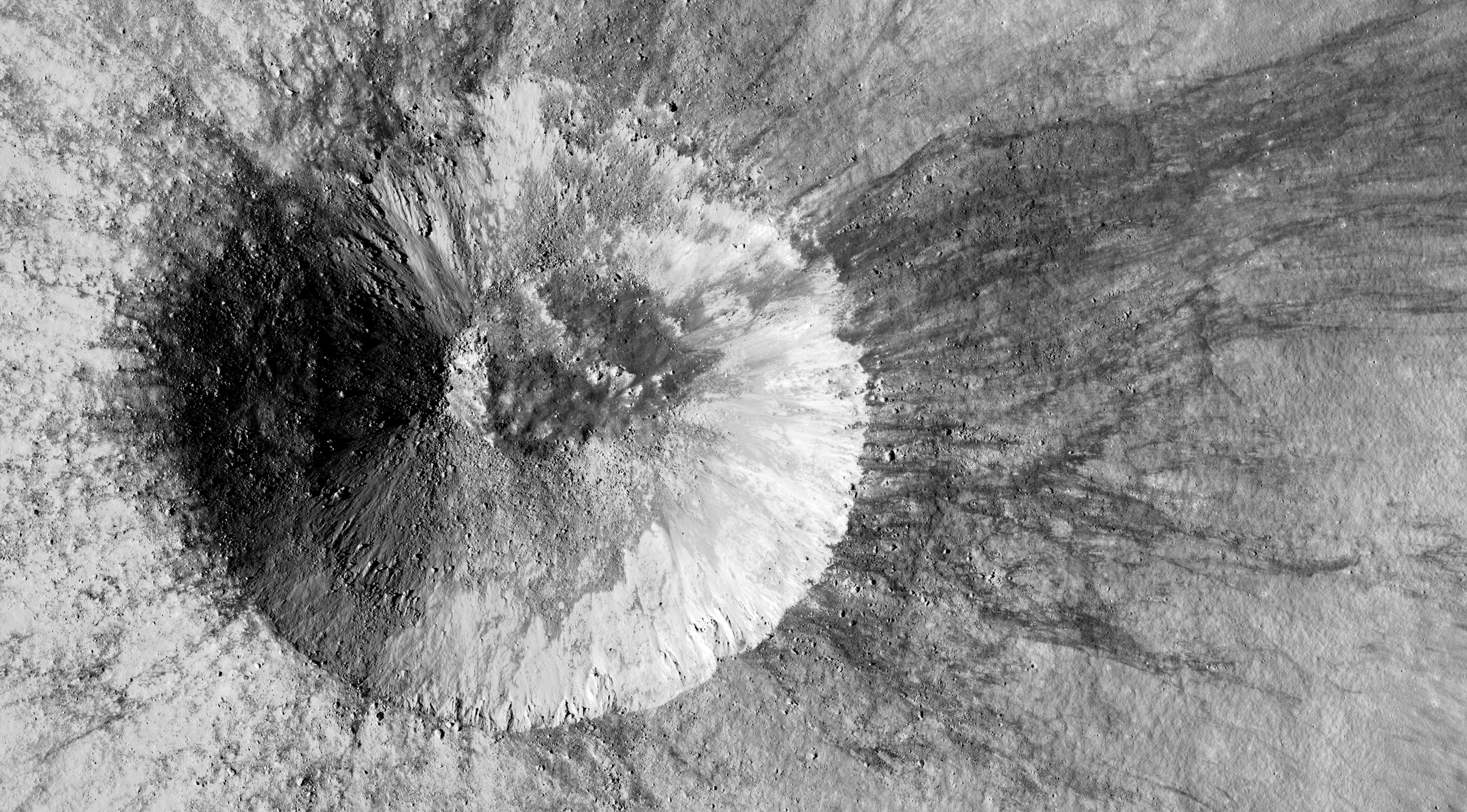 best website 08783 0b4e4 The science team from Lunar Reconnaissance Orbiter (LRO) today released a  new image, taken on November 3, 2018, of a relatively young small crater  not ...