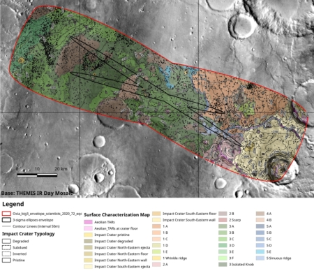 Oxia Planum detailed map