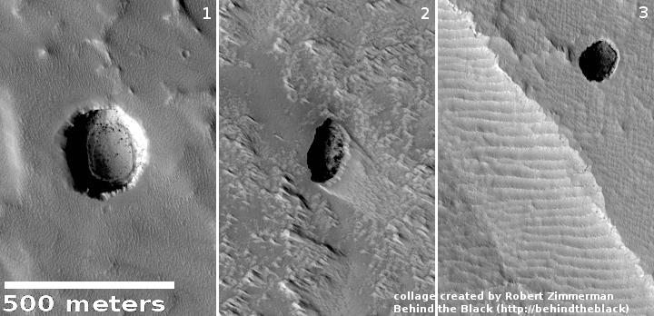 Pits near Arsia Mons