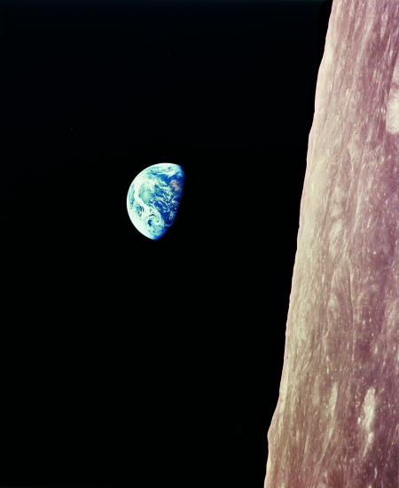 Earthrise, as seen by a space-farer