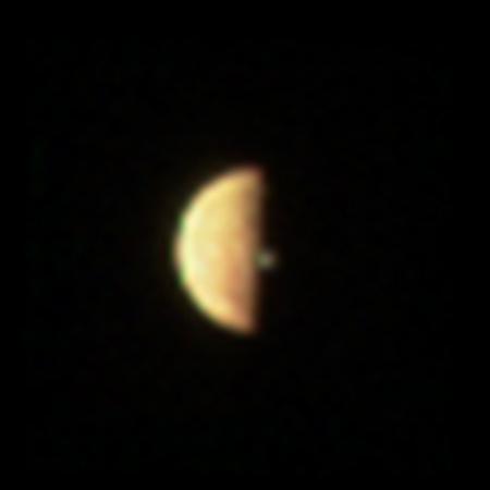 Volcano plume on Io