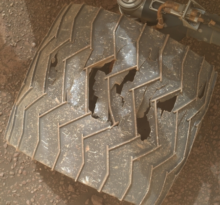 Curiosity wheel damage