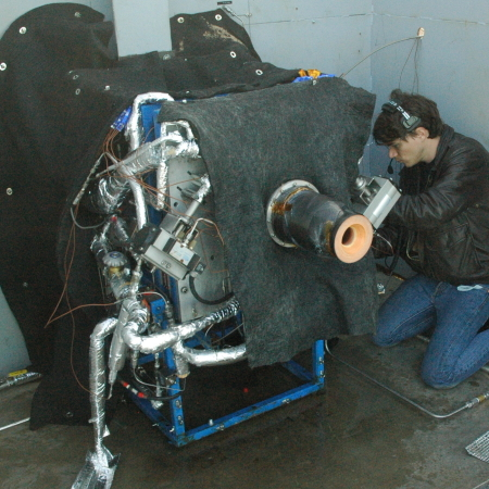 Preparing for test of second stage engine
