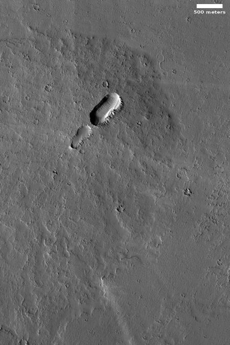 volcanic vent on Mars