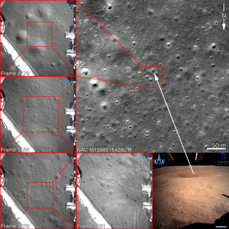 LRO pinpointing Chang'e-4's location on Moon