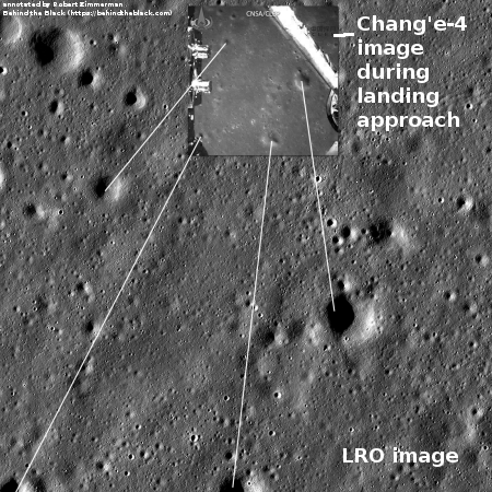 LRO image of Chang'e-4 landing area