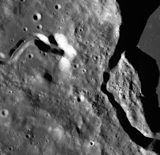 Plato Crater's west rim