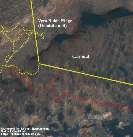 Overview of Curiosity's future travels