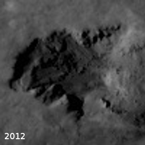 Close-up of 2012 landslide origin
