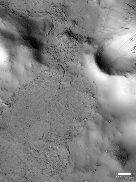 Lava flow in Tartarus Montes