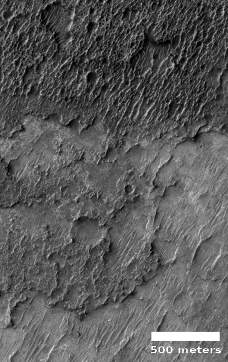 Dark toned ridge in Martian southern highlands