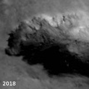 Close-up of 2018 landslide origin