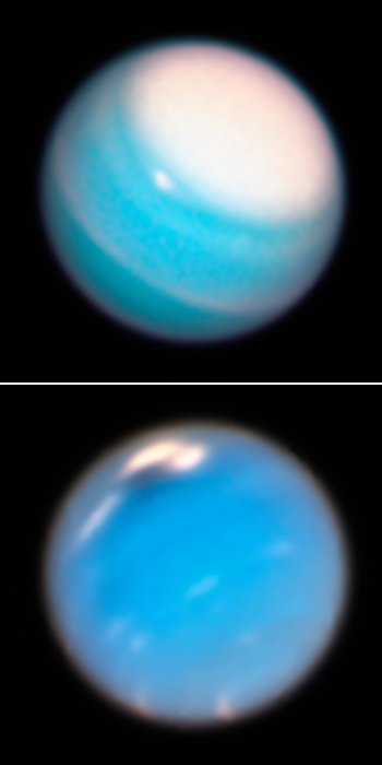 Uranus (top) and Neptune
