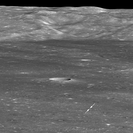 Chang'e-4 on the lunar surface