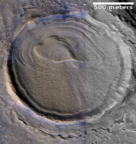 Strange crater in the northern lowlands