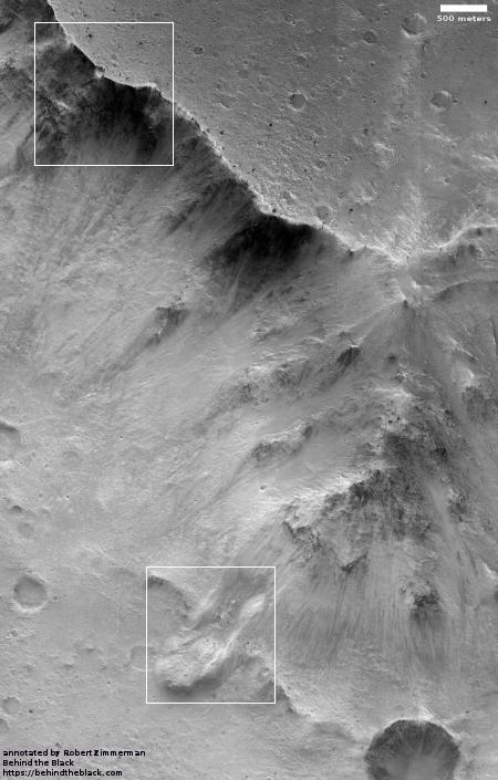 Massive Martian landslide