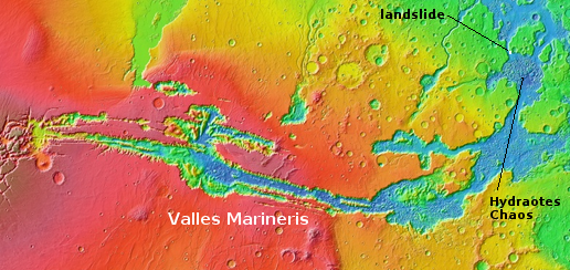 Overview of Marineris Valles and landslide