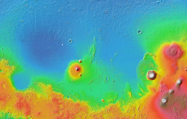Location of fresh impact crater