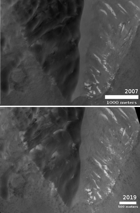 Looking for dune changes on Mars