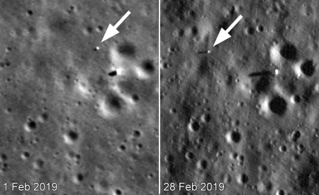 LRO images of Yutu-2 on the Moon
