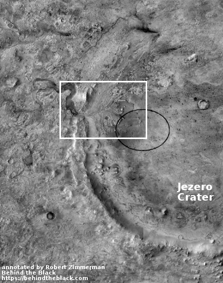 The local context of the Jezero Crater landing site