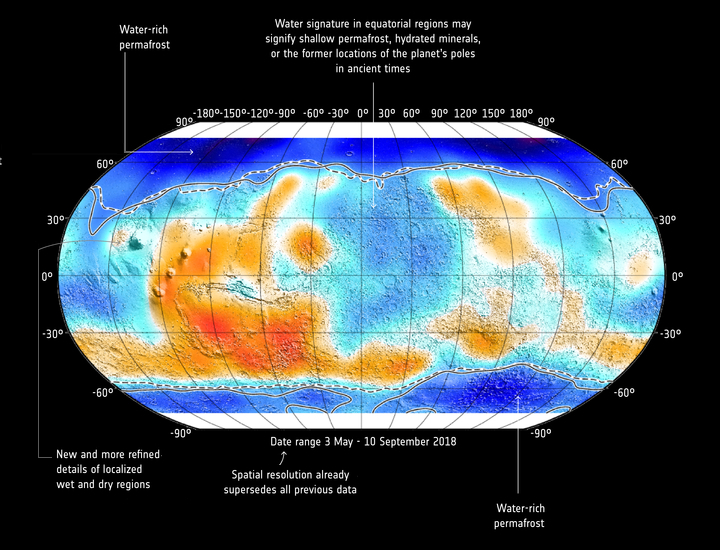 TGO global map of Martian subsurface water