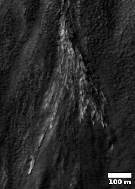 Close-up of white streaks