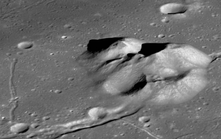 Central peaks of Compton Crater
