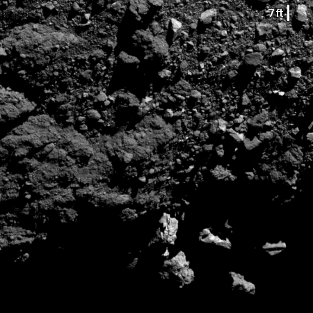 Bennu from two miles
