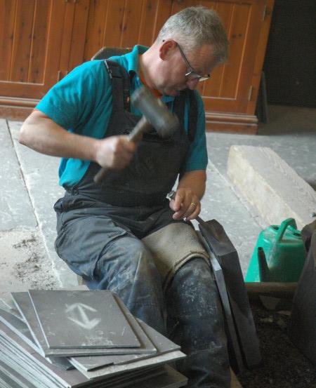 John Jo splitting slate
