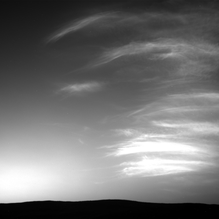 Clouds over Gale Crater