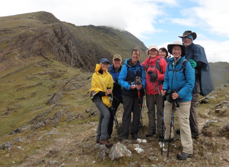 Our crew with the summit in view