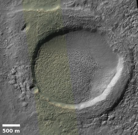 Crater inside crater