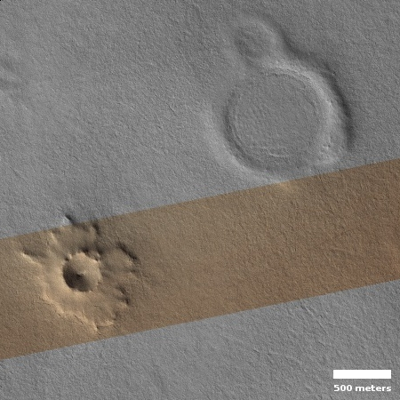 Impact craters on the southern permafrost of Mars