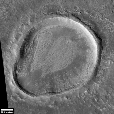Odd shaped crater