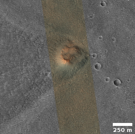 A mesa in the northern Martian lowlands