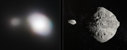Double asteroid imaged by VLT