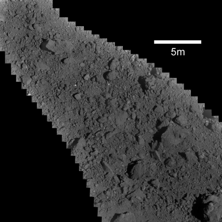 Target and man-made crater on Ryugu